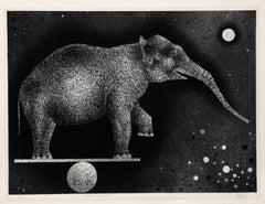 Elephant Equilibriste, 1969 by Mario Avati