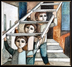 Ladder, Oil Painting by Lucio Ranucci 1971