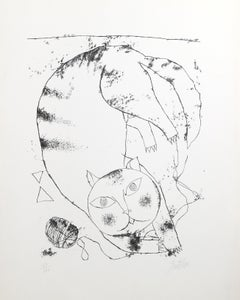 Cat, Lithograph by Franco Gentilini