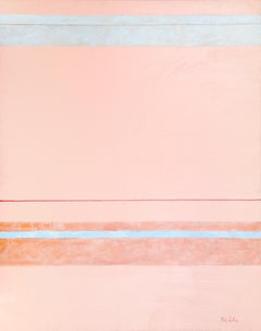 Parallels on Peach, Large Painting by Nick Wallis