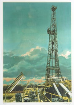 Oil Well, Serigraph by Tom Blackwell