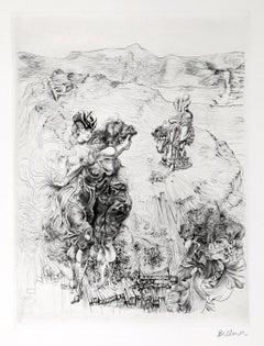 Paysage 1800, Surrealist Landscape Etching by Hans Bellmer