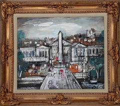 Gray Day, Paris Framed Painting by Charles Cobelle