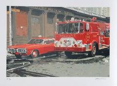 Fire Engine, FNDY, Photorealist Silkscreen by Ron Kleemann