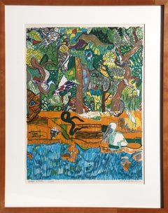Dreams of Exile, Lithograph by Romare Bearden
