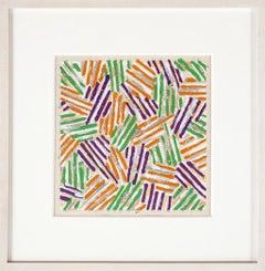 Crosshatch, Framed Silkscreen by Jasper Johns 1977