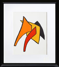 Stabiles V from Derriere Le Miroir, Abstract Lithograph by Alexander Calder