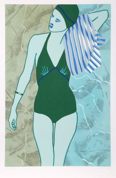 Bathing in Green, by Kiki Kogelnik