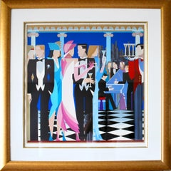An Evening to Remember, Art Deco Serigraph by Giancarlo Impiglia