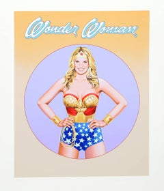 Wonder Woman III, Pop Art Lithograph by Mel Ramos