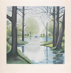 Central Park, Silkscreen by Lowell Nesbitt