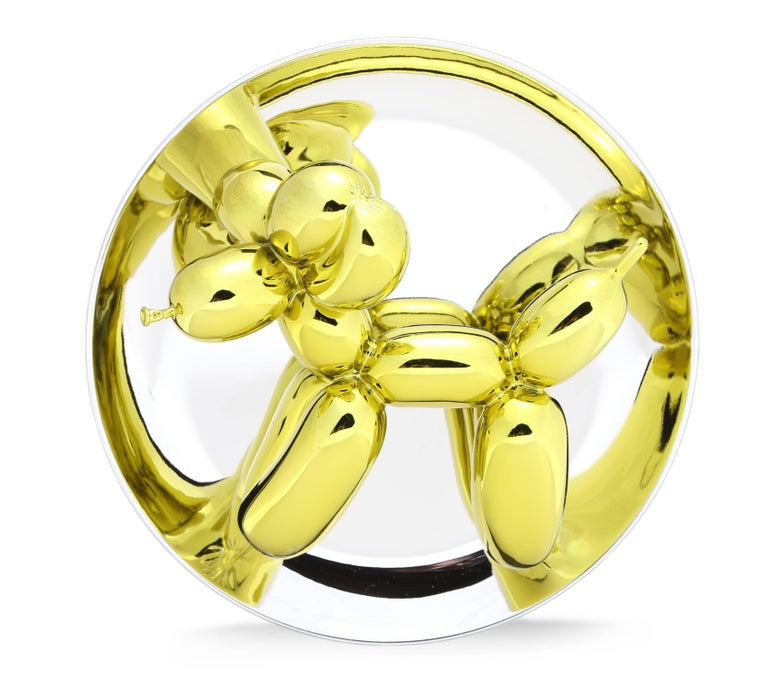 Jeff Koons Figurative Sculpture - Balloon Dog (Yellow)