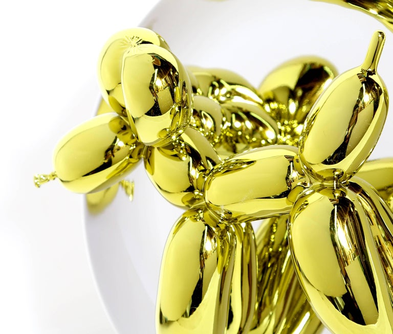 Balloon Dog (Yellow) - Pop Art Sculpture by Jeff Koons