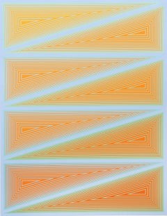 Inward Eye, #10 OP Art Serigraph by Anuszkiewicz
