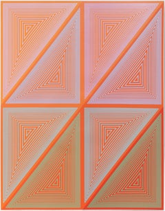 The Inward Eye #7 OP Art Serigraph by Anuszkiewicz