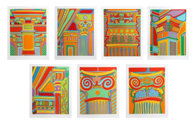 CLAYTON POND Abstract Print - Capital Ideas Portfolio, Suite of 7 Silkscreens
