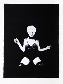 """Marilyn Monroe """"A Little Drink"""" from the Black Sitting"""