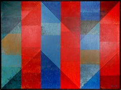 Abstract with Red Stripes