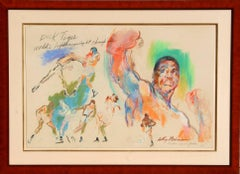 Dick Tiger, Boxing Painting by Leroy Neiman 1967