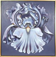 Violet Iris, large Flower Oil Painting by Lowell Nesbitt