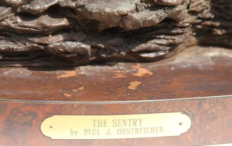 The Sentry, Bronze Sculpture by Paul Oestreicher For Sale 1