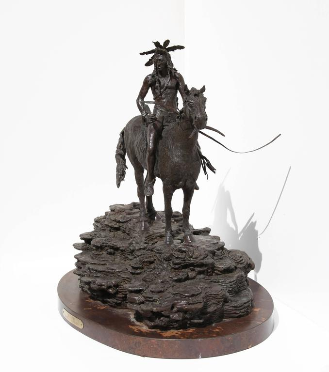The Sentry, Bronze Sculpture by Paul Oestreicher For Sale 3