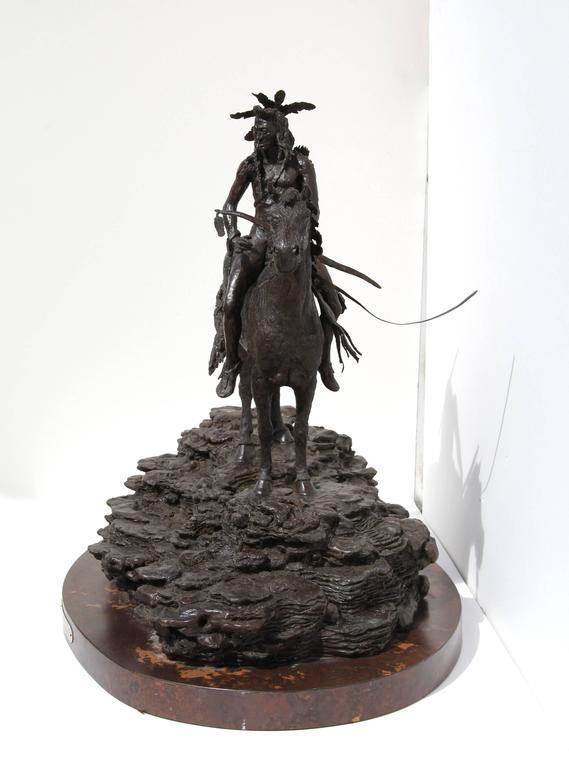 The Sentry, Bronze Sculpture by Paul Oestreicher For Sale 4