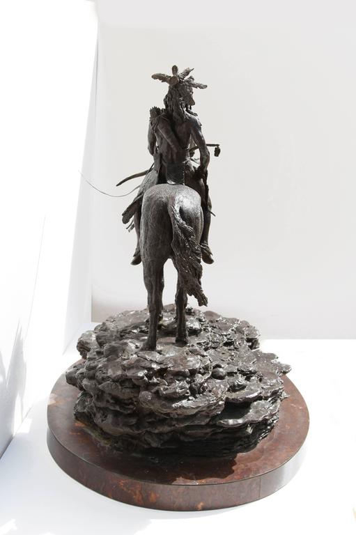 The Sentry, Bronze Sculpture by Paul Oestreicher For Sale 7