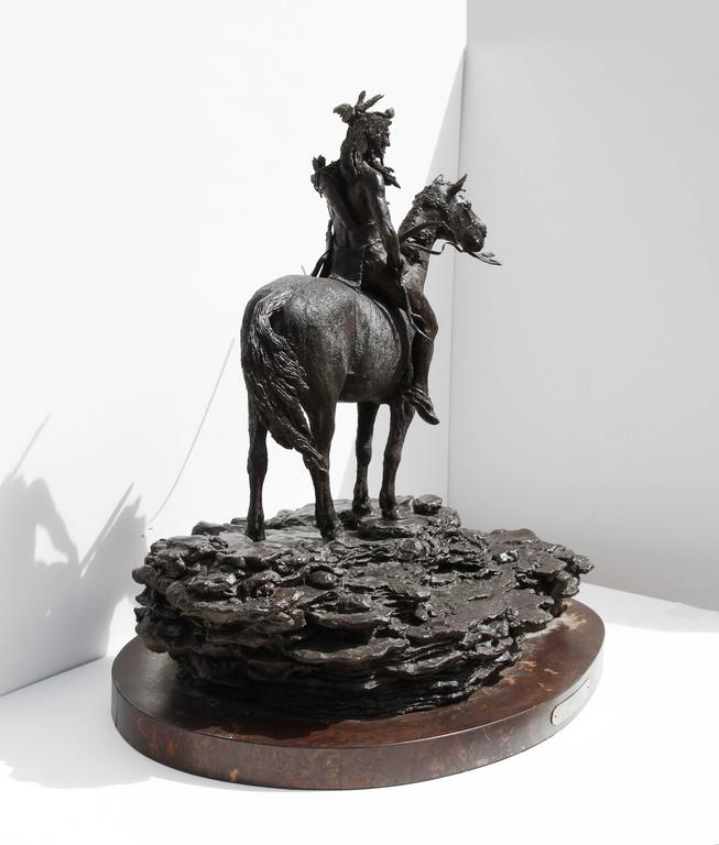 The Sentry, Bronze Sculpture by Paul Oestreicher For Sale 6