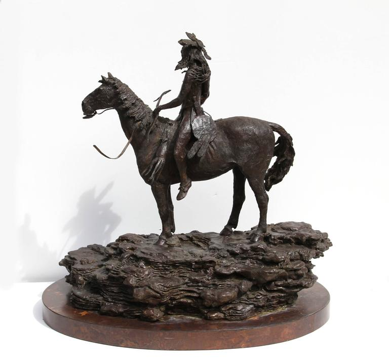 The Sentry, Bronze Sculpture by Paul Oestreicher For Sale 5