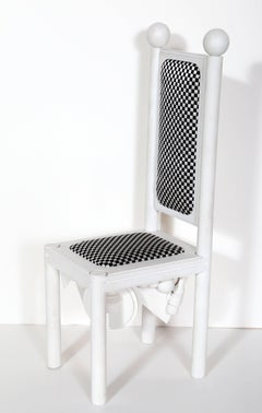 Chair, Modernist Tabletop Sculpture by Lucio Del Pezzo