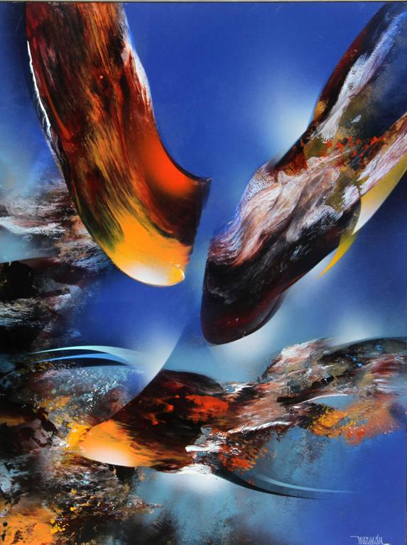 Leonardo Nierman Abstract Painting - Bird of Paradise