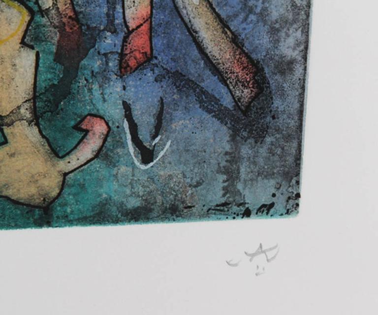 L'ame du Tarot de Theleme Portfolio of 5 Aquatint Etchings by Matta - Surrealist Print by Roberto Matta