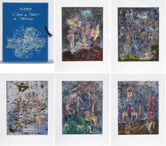 L'ame du Tarot de Theleme Portfolio of 5 Aquatint Etchings by Matta