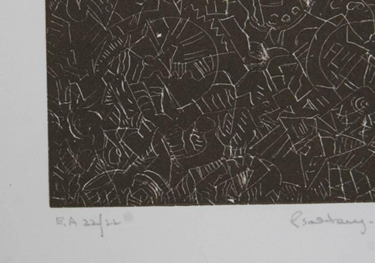 Psaltery, 1st Form - Abstract Expressionist Print by Mark Tobey