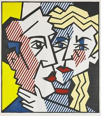 Roy Lichtenstein - The Couple, from Expressionist Woodcut Series