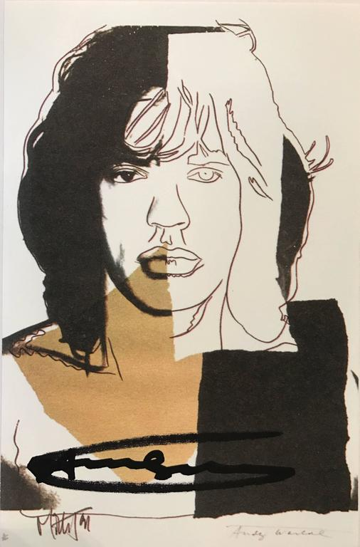 (after) Andy Warhol Portrait Print - Mick Jagger announcement