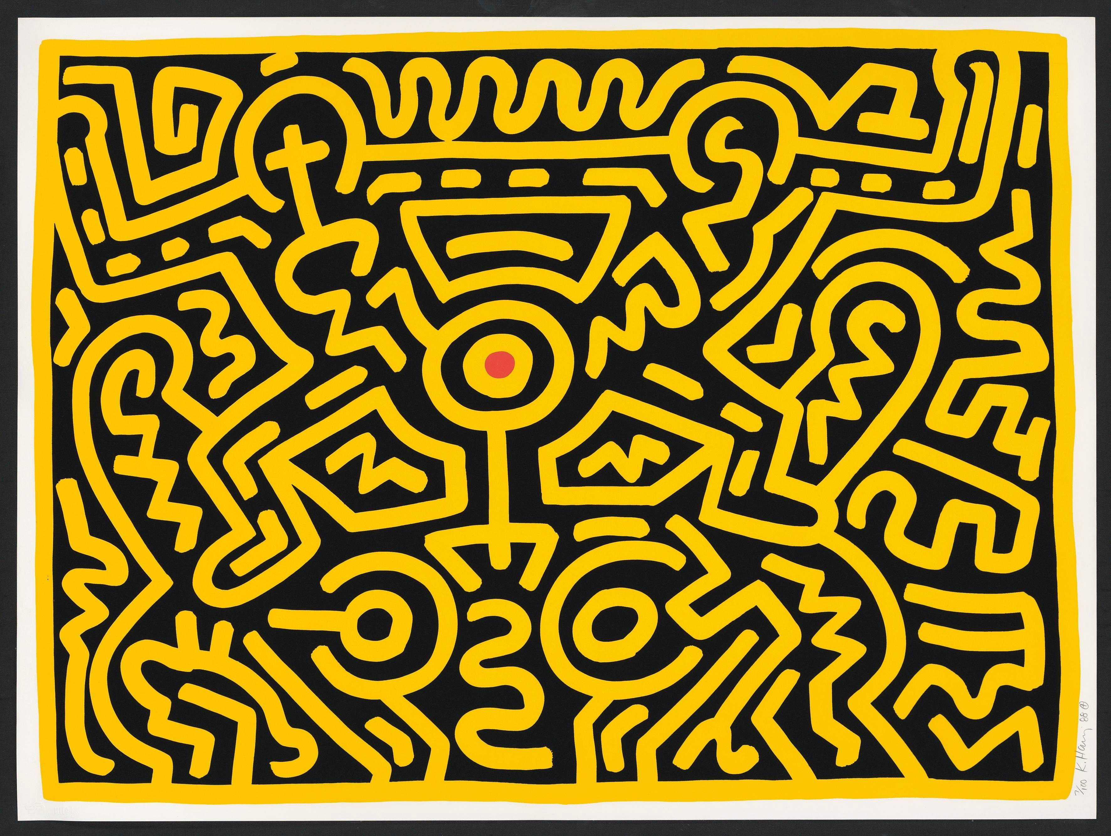 Keith Haring - Plate IV, from Growing Suite, Print For Sale at 1stdibs