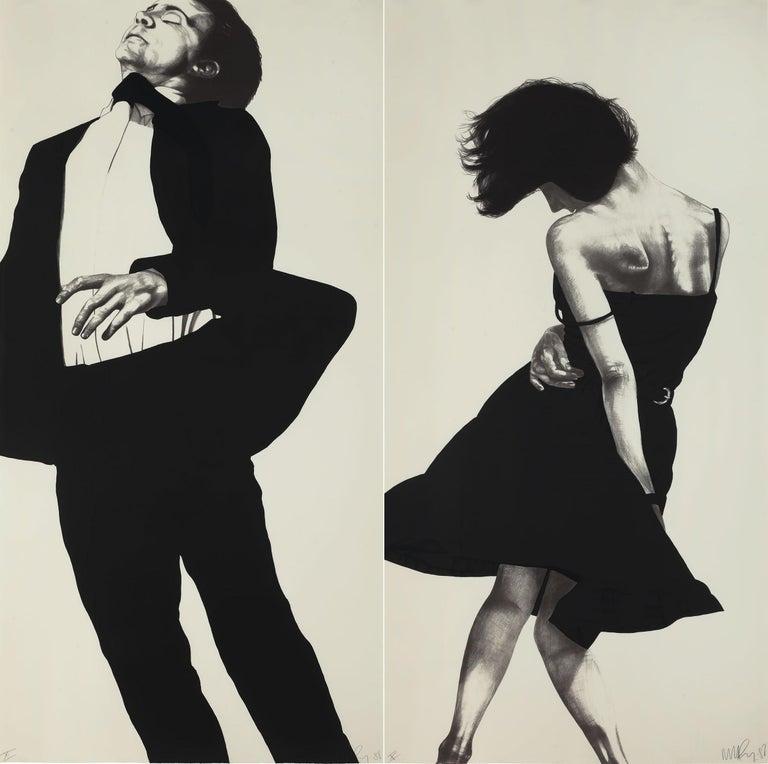 Robert Longo Portrait Print - Meryl and Jonathan, from Men in the Cities