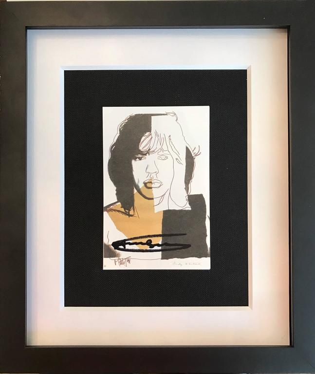 Mick Jagger announcement - Print by (after) Andy Warhol