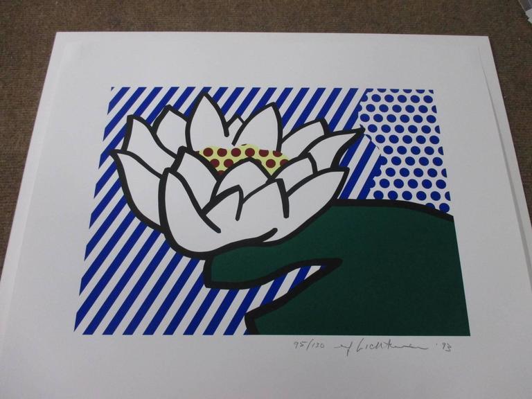 Roy Lichtenstein - Water Lily, Print at 1stdibs