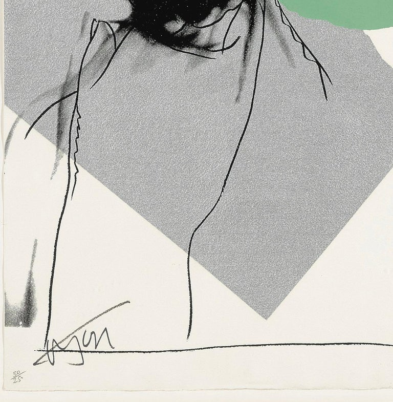 Mick Jagger F&S II.138 - Contemporary Print by Andy Warhol