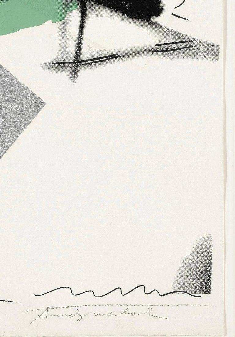 Mick Jagger F&S II.138 - Gray Portrait Print by Andy Warhol