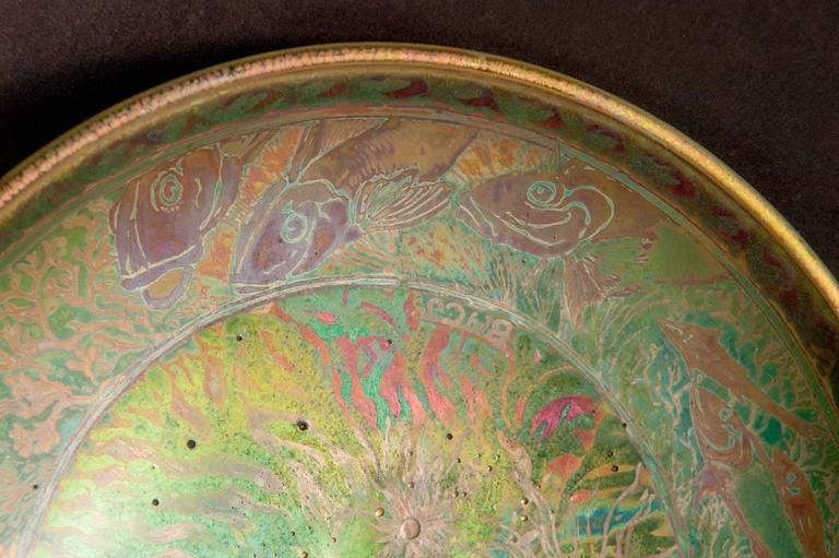 Iridescent Ocean Bowl For Sale 2