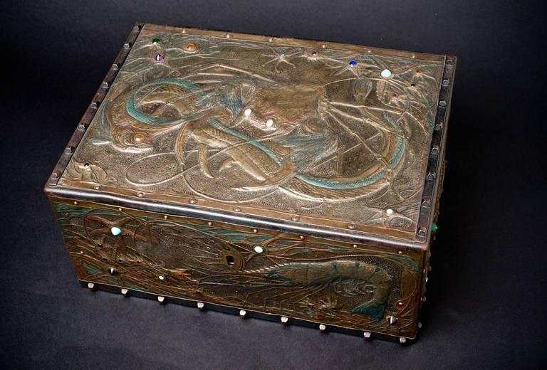 Seabed Box - Art Nouveau Art by Alfred Daguet
