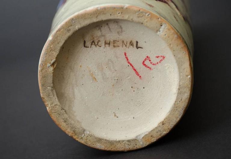 Flambé-Glazed Vase For Sale 5