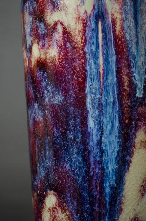 Flambé-Glazed Vase For Sale 2