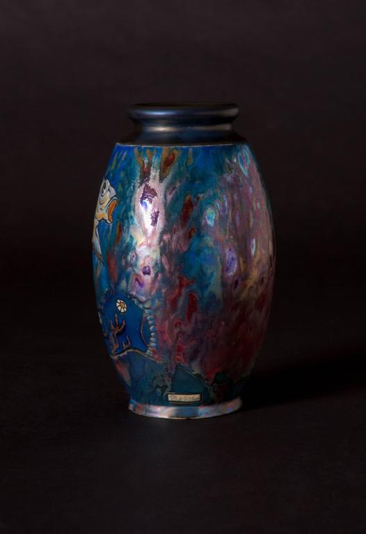Koi Vase - Art Nouveau Art by Jean Barol