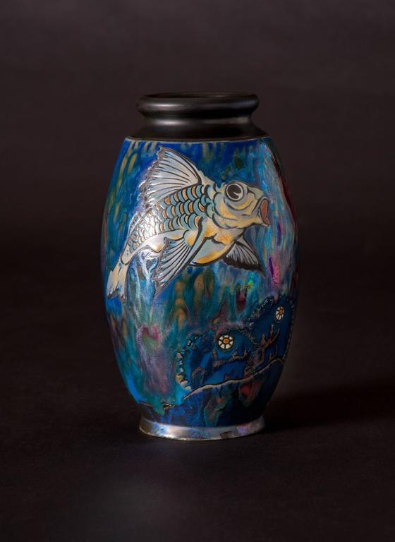 Koi Vase - Art by Jean Barol