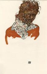"""E. Strache, Handzeichnungen folio, """"Artist's Sister-in-Law"""" Collotype plate"""